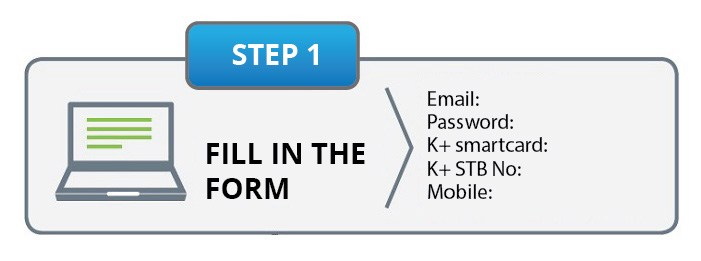 myKplus registration step 1 fill the form