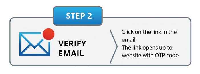 myKplus registration step 2 verify email