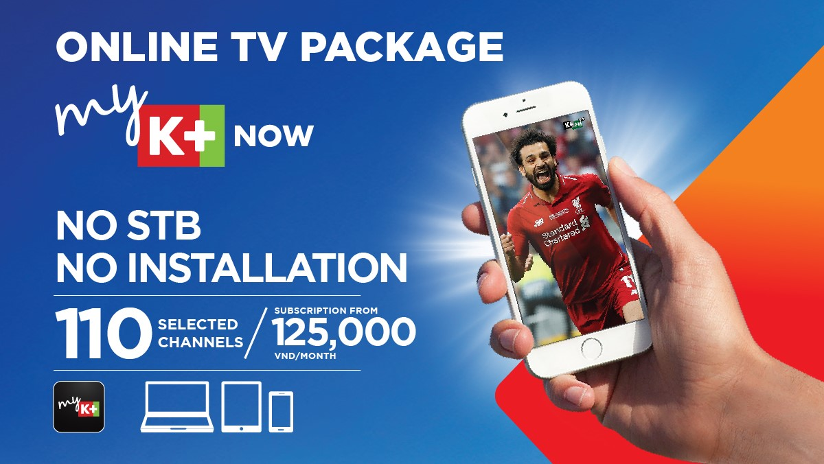 online tv package myK+ NOW